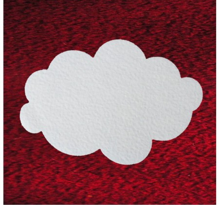 Filz Schwer Entflammbar wolken aus schneefilz 29 cm, ca. 2 mm dick, 4er pack, schwer